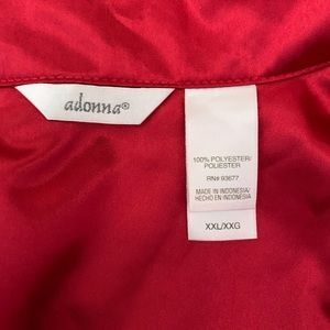 Adonna Intimates & Sleepwear - ADONNA Womens Red Satin Pajamas